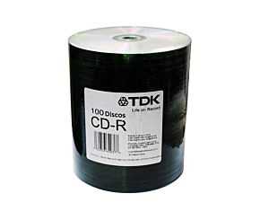 CD-R TDK X100 UNIDADES 700MB