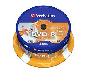 DVD VERBATIM R 16 X 4.7GB 25 UNIDADES IMPRIMIBLE