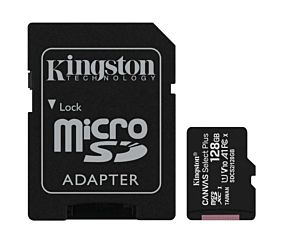 MEMORIA MICRO SD 128GB KINGSTON CANVAS SELECT PLUS