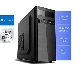 PC GFAST H-300 I3 10100 8GB SSD 240GB W10