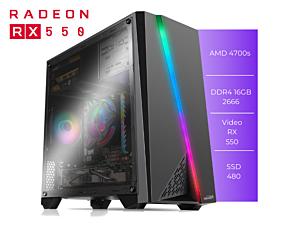PC GFAST GAMMER X-500 AMD 4700S 16GB 480GB RX550