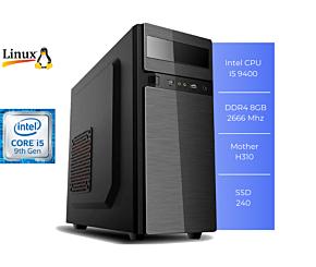 PC GFAST H-500 I5 9400 8GB SSD 240GB LINUX