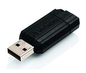 PEN DRIVE 128 GB VERBATIM PINSTRIPE NEGRO