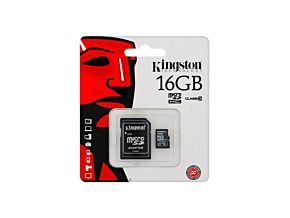 MEMORIA 16GB MICRO SD KINGSTON CLASE 10