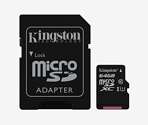MEMORIA 64GB MICRO SD KINGSTON CLASE 10