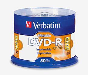 DVD VERBATIM R-16X 4.7GB 50U. IMPRIMIBLES