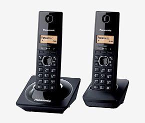 TELEFONO PANASONIC KX-TG1712AGB 2 BASES C/IDEN NEGRO