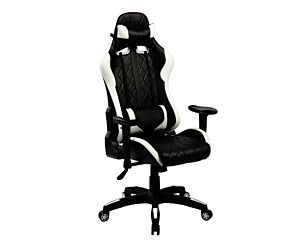 BUTACA GAMER IN7219 NEGRA/BLANCO RECLINABLE