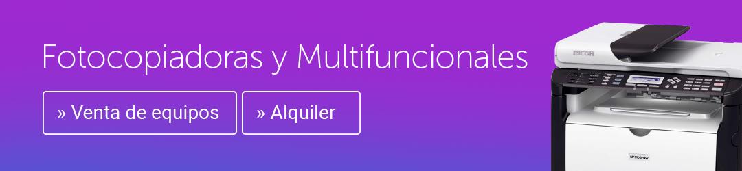 Copiadoras y Multifuncionales